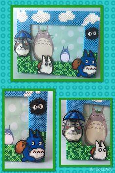 """Cuadro hecho en hama beads de Totoro, Podéis encontrar mas artículos en nuestra pagina de facebook: """"D&B Artesanías"""" Pedid precios sin compromiso."""