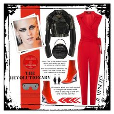"""""""Red Lapel Tie Front Jumpsuit"""" by nova5ta5ia ❤ liked on Polyvore featuring Burberry, Puma, Aspinal of London, Chanel, GALA, Oscar de la Renta, Tom Ford, jumpsuits, FashionInfluencer and thegypsetters"""