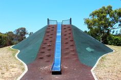 Kambah Adventure Playground. Huge slides, a couple of flying foxes and lots of other great playgrounds within a playground.