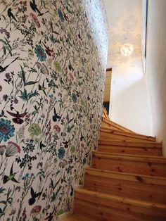 #階段 #壁紙 #照明#アクセントクロス#無垢材#ホワイト#鳥 Curtains, Shower, Rugs, Prints, Home Decor, Rain Shower Heads, Farmhouse Rugs, Homemade Home Decor, Types Of Rugs
