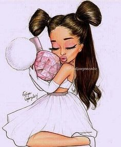 Image about cute in Ariana Grande😻 by asianmalaysian Ariana Grande Drawings, Ariana Grande Fotos, Ariana Grande Wallpaper, Cartoon Drawings, Cute Drawings, Animal Drawings, Adriana Grande, Celebrity Drawings, Drawings Of Celebrities