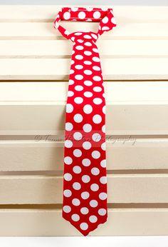 Hey, I found this really awesome Etsy listing at https://www.etsy.com/listing/128209874/boys-necktie-baby-child-red-white-polka