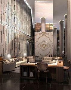 Ten York lobby and lounge rendering.