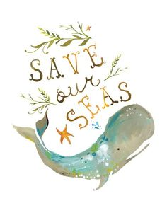 Save our seas print, only $15 and half of proceeds go to NWF gulf cleanup project