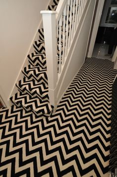 Bespoke herringbone carpet by Bowloom