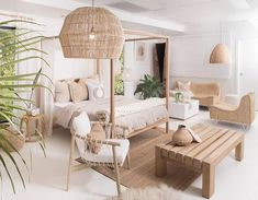 Interior Living Room Design Trends for 2019 - Interior Design Home Decor Bedroom, Interior Design Living Room, Living Room Designs, Living Room Decor, Beach Interior Design, Ibiza Style Interior, Bali Bedroom, Bedroom Ideas, Coastal Master Bedroom