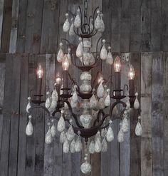 Cottege Chandelier with Wooden Beads | Lighting Connection