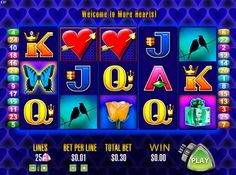 Are you hot enough to try More Hearts from Aristocrat slots? Try the adventures of free slots online play before risking your money! Free Slots, Slot Online, Slot Machine, Hearts, Play, Arcade Machine