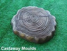 Log Stepping Stone Mould - Make Your Own From Concrete, Plaster Or Cement - we have over 500 differe Stepping Stone Pathway, Stepping Stone Molds, Concrete Stepping Stones, Concrete Cement, Large Sea Shells, Concrete Casting, Brick Molding, Moon Garden, Garden Ornaments