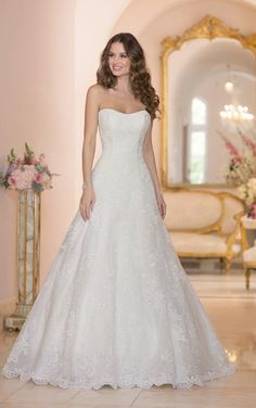 6024 Lace, Tulle, and Organza over Satin Wedding Dress by Stella York