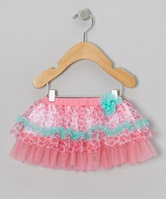 Loving this Pink & Teal Leopard Tulle Tutu on #zulily! #zulilyfinds
