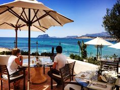 The sea, the sun and you in a charming place in #El Portet Beach in #Moraira. #Restaurant Le Dauphin...Art and exquisite taste for good gastronomy. www.abahanavillas.com