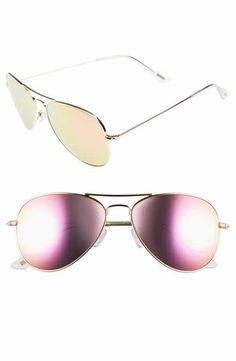 DIFF Cruz 57mm Aviator Sunglasses