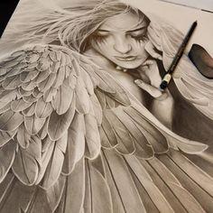 Angel drawing …