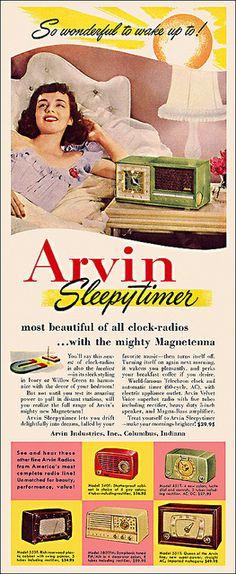 Arvin Clock Radio Ad, 1952   Flickr - Photo Sharing!
