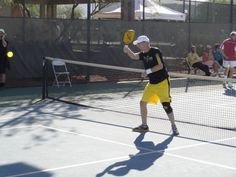Rocket in action at the 2012 National Pickleball Tournament.
