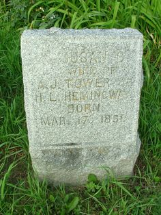 Susan Tower Adams Hemingway (1831 - 1880) - Find A Grave Photos Susan Tower Adams Hemingway Memorial Photos Flowers Edit Share Learn about removing the ads from this memorial... Birth: Mar. 17, 1831 Death: 1880    Burial: Hollenbeck Cemetery  Columbiaville Lapeer County Michigan, US