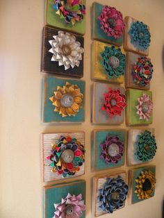 Recycled Barn Wood and Recycled Vintage Zipper Flower by Rezipit, $30.00  so cute, i want one