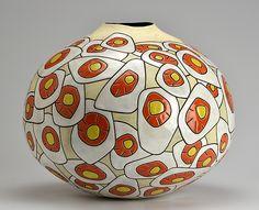 Daffodil Blossoms: Boyan Moskov: Ceramic Vase - Artful Home