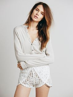 Free People Lace Runner Short, $98.00