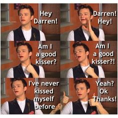 Haha just an average day on the Glee set.