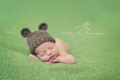 Brown Newborn Baby Bear Hat 0 to 3 month Teddy Bear Hat