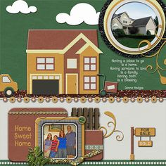 """Home Sweet Home  Credits:  """"Moving House"""" (Collection) Quick Page A1  by Dees-Deelights Font Used:  DJB Play Misty For Me  Available at:   My Memories Store  - Exclusive Quick Page A1 : –  https://www.mymemories.com/store/display_product_page?id=DDDR-QP-1503-82593  Coordinating Products Available at: My Memories Store: Main Kit - https://www.mymemories.com/store/display_product_page?id=DDDR-CP-1412-77468"""