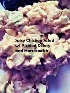 Coastal Bohemian: Spicy Chicken Salad w/ Pickled Celery