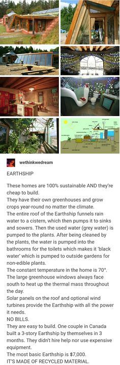 Sustainable homes called Earthships