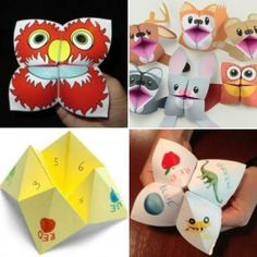 Easy Origami Hand-puppet - One of Each