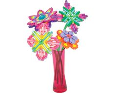 Make this colorful bouquet of flowers combining classic Perler beads and rods you cut to size from bead stems using the stem clipper.