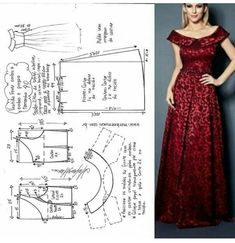 Long dress pattern size - Her Crochet Sewing Patterns Free, Clothing Patterns, Simple Short Dresses, Costura Fashion, Dress Making Patterns, Skirt Tutorial, Fashion Sewing, Moda Fashion, Sewing Clothes