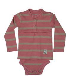 Pink Stripe Skirted Bodysuit - Infant