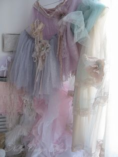 Don't know why, but I just love all of this tulle fabric!