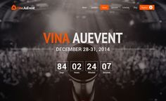 Vina AuEvent v1.0.4 - One Page Event and Conference Template | VinaGecko | Joomla Templates