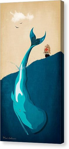 Image result for moby dick illustration