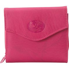 Buxton Heiress Leather Zip Purse ($29) ❤ liked on Polyvore featuring bags, wallets, ladies small wallets, ladies wallets, pink, leather change purse, leather zipper wallet, zippered coin pouch, coin purse and coin pouch
