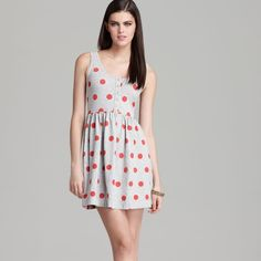 FRENCH CONNECTION DRESS AS SEEN ON LUCY HALE!! FRENCH CONNECTION Polka dot Dress as seen on Lucy Hale from Pretty Little Liars!!! Size  US 10, beyond comfort dress can be dressed up or down perfect with a jean jacket!! Made in India 95%cotton 5% spandex French Connection Dresses Mini