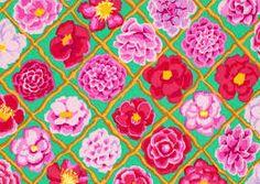 Kaffe Fassett Camellia Pink  Fabric by the Yard by 7BeesFabrics