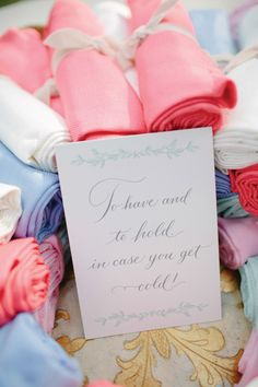 pashmina wraps in case guests get cold! | The Nichols