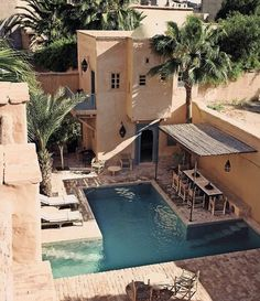 rivate Riad in Marrakech, Morocco 🌴 Outdoor Spaces, Indoor Outdoor, Outdoor Living, Riads In Marrakech, Marrakech Morocco, Moroccan Interiors, Moroccan Design, Hotels, Interior Exterior