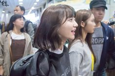 151025 gimpo airport © 남똑   do not edit. #oh my girl#binnie#151025#p: fantaken#e: airport#f: namddok
