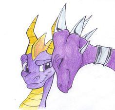 Spyro n cynder drawing
