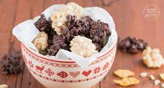 Ob als Schoko-Crossies mit Cornflakes, mit Kokos, Mandeln oder weißer Schokolade: So einfach kann man köstliche Schokocrossies selber machen!