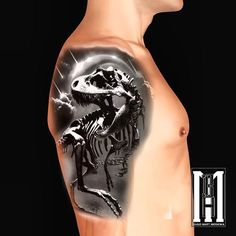 #trex #tyranosaurus #t #rex #tattoo #planet #earth #rain #meteor #carter #tattoo #design #dinosaurs #dinosaur #digital #iPad #pro #design #shoulder #tattoos #concept #