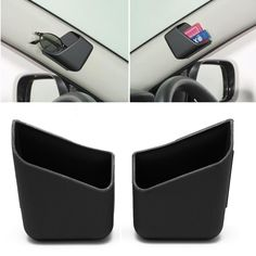 Kris 2 pcs Universal Mobil Auto Aksesoris Kacamata Kotak Penyimpanan Pemegang Organizer Hitam