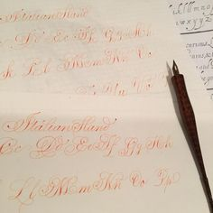 Morning Italian Hand warm up #heathervictoriaheld #thepoeticpen #italianhand #practicepage #calligraphy #flourish