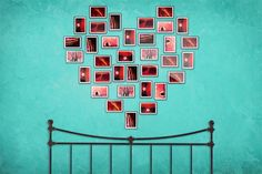 Decorar con fotos » Blog Archive » Un corazón personalizado en la pared