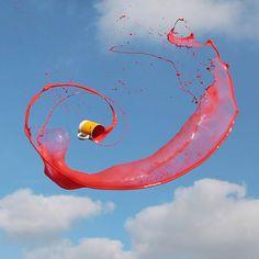 liquid and sky fast shutter speed