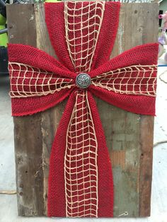 Old wood and burlap cross